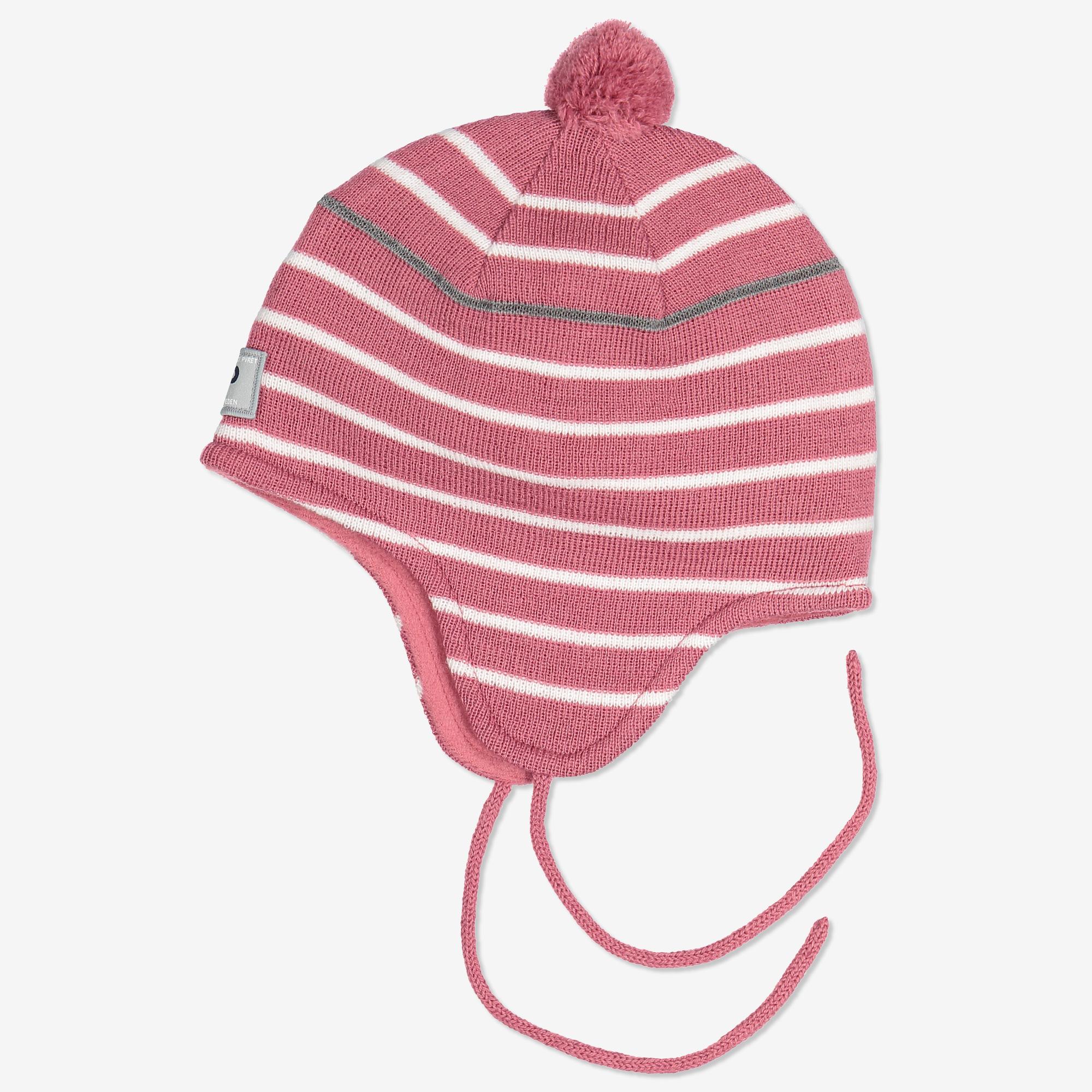Vauvan raidallinen pipo vaaleanpunainen  8e185022e2